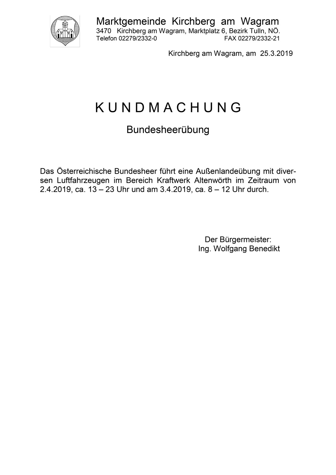 Bundesheerübung in Altenwörth