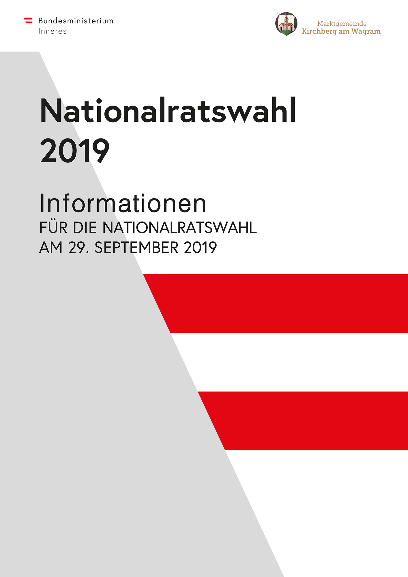 Informationen Nationalratswahl 29. September 2019