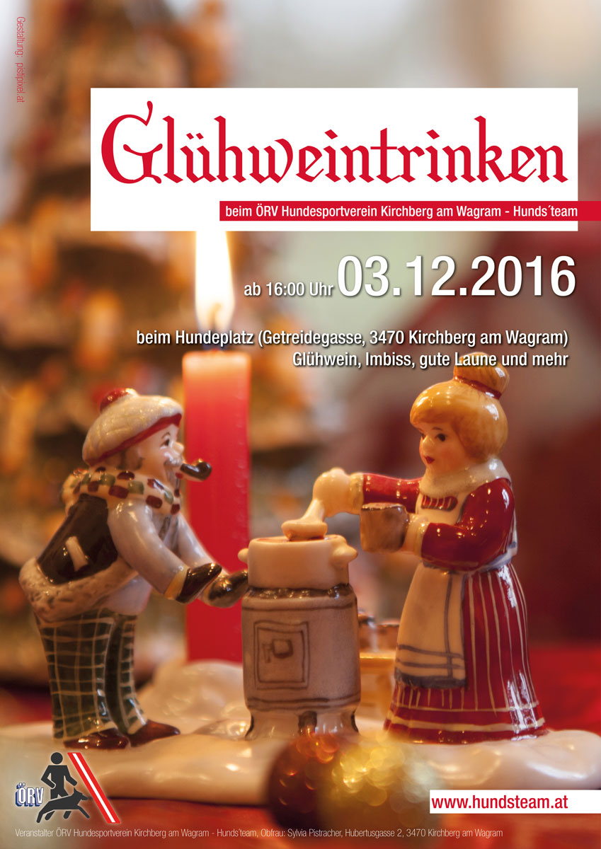 Glühweintrinken Hundsteam 2016