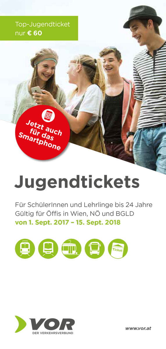 Jugendticket Flyer 2017
