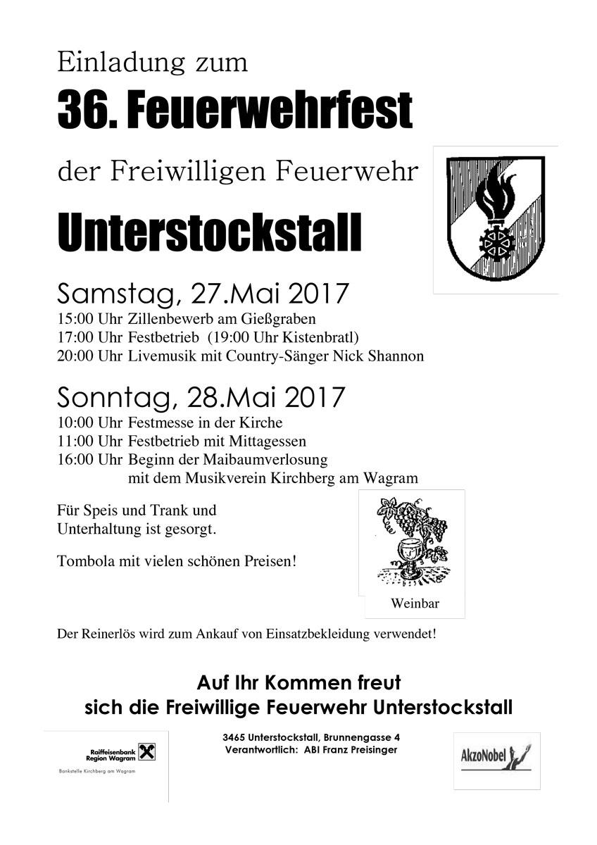 Feuerwehrfest Unterstockstall