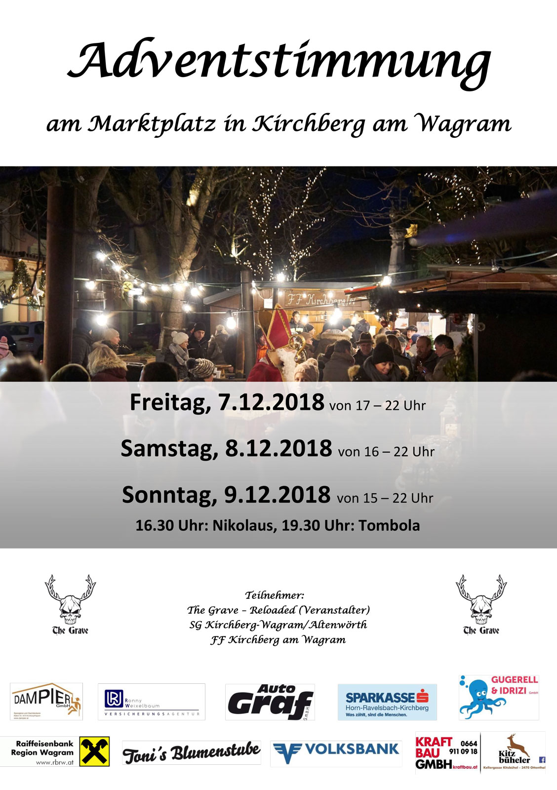 Adventstimmung am Marktplatz Kirchberg am Wagram